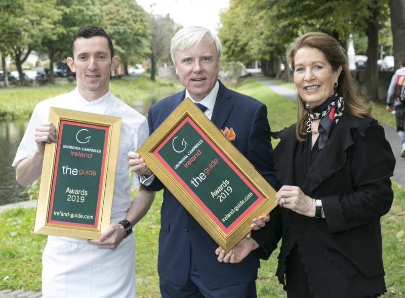 james coffey of park hotel kenmare wins best chef pictured with georgina campbell francis brennan 2 small