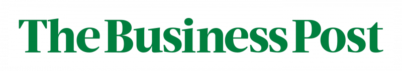 the business post logo white green