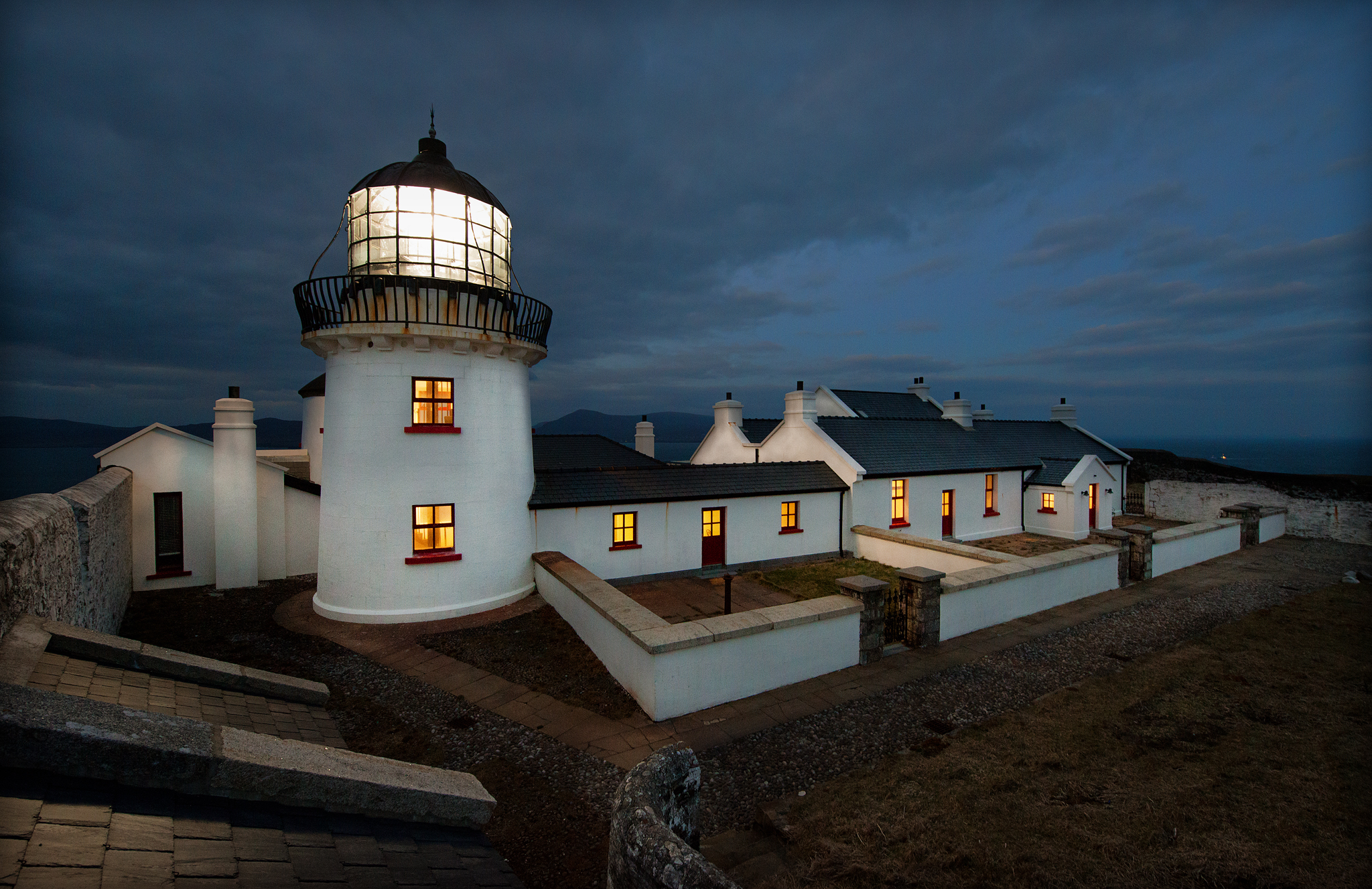 Clare Island Lighthouse Evening
